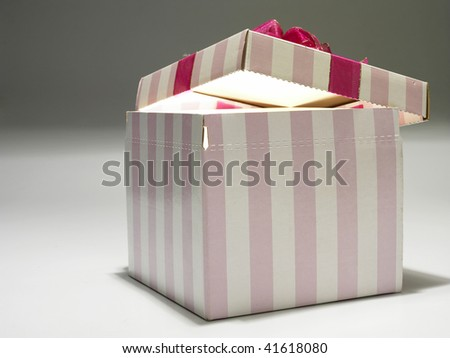 Gift Popping Open - stock photo