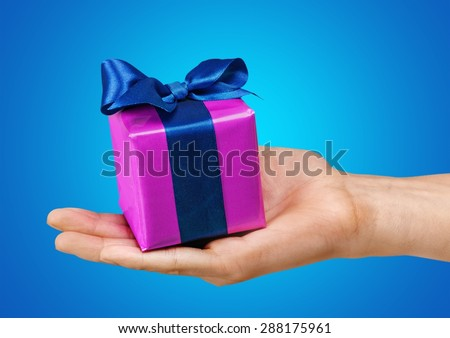 Gift, present, box. - stock photo