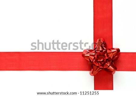Gift ribbon - stock photo