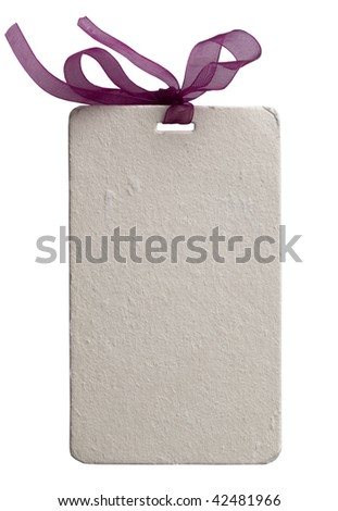 gift tag - stock photo