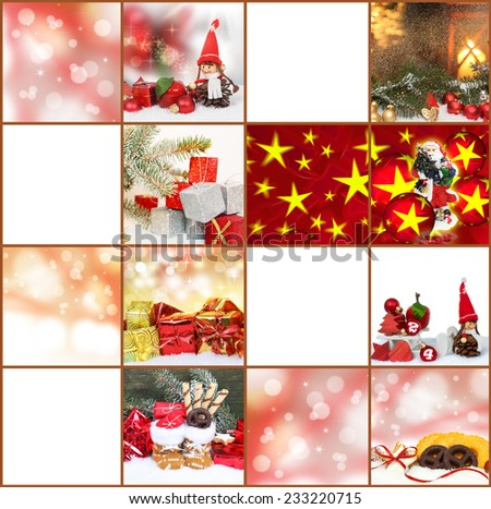 Gift tags, Christmas cards - stock photo
