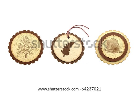 gift tags set - stock photo