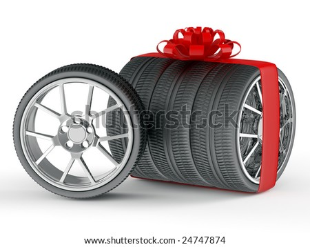 Gift wheels - stock photo