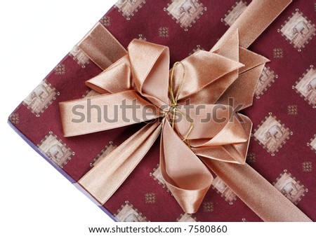 gift with ribbon - stock photo