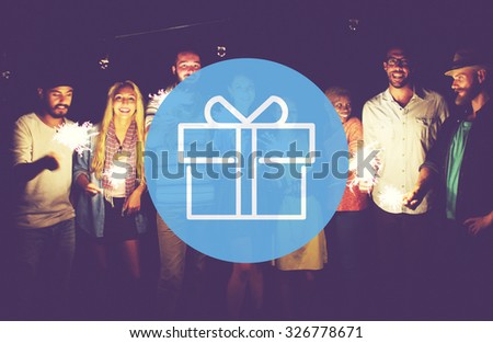 Gift Wrapped Ornament Package Celebrate Concept - stock photo