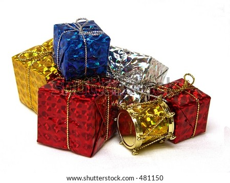 Gift wrapped presents stock photo 481150 shutterstock gift wrapped presents negle Choice Image
