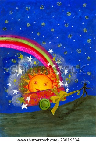 Gift you the sun, stars and a rainbow of happiness