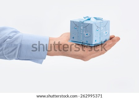 giftbox isolated on the white background - stock photo
