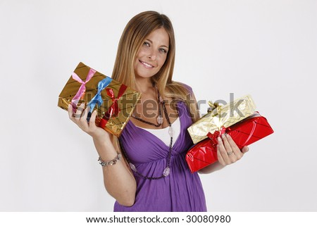 gifts - stock photo
