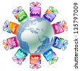 Gifts from around the world 2 - stock vector