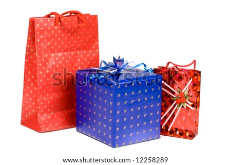 Gifts isolated on a white background. Clipping path included.