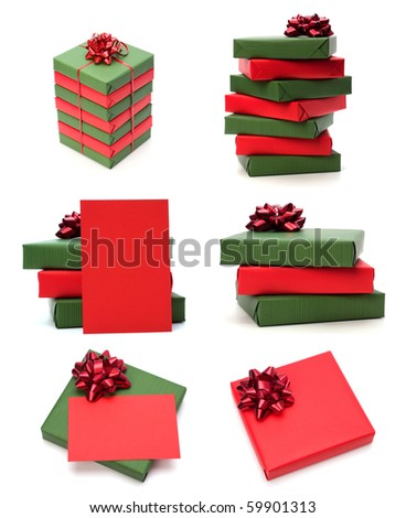 gifts isolated on white background - stock photo