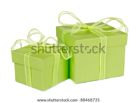 Gifts, isolated on white background - stock photo