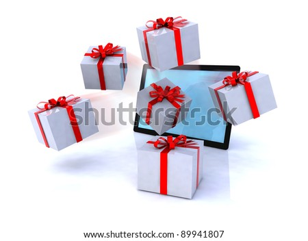 gifts that come from a tablet, xmas shopping online