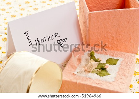 Gifts to Mom - stock photo