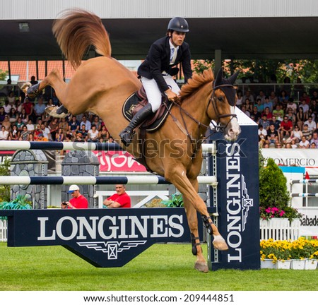 "GIJON, SPAIN  Aug 2014:  Participants in the "" International Jumping Competition CSIO 5 Gijon 2014""  Spain, from July 31 to August 4"
