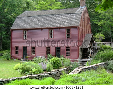 Gilbert Stuart Birthplace in Saunderstown, RI Horizontal - stock photo