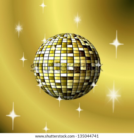 gilded ball on a beige background