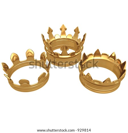 Gilded 3 Crowns