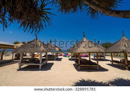 Gili trawangan beaches - stock photo