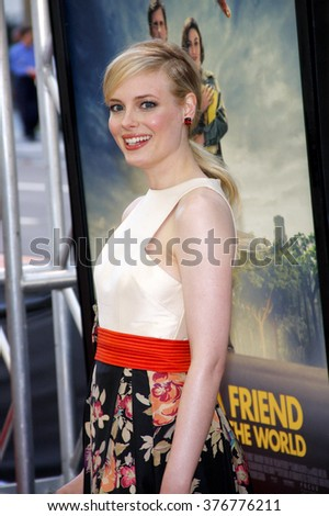 """Gillian Jacobs at the 2012 Los Angeles Film Festival premiere of """"Seeking A Friend For The End Of The World"""" held at the Regal Cinemas L.A. LIVE Stadium 14 in Los Angeles, USA on June 18, 2012.  - stock photo"""