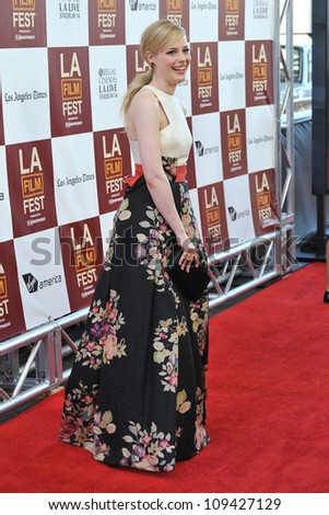 "Gillian Jacobs at the world premiere of her movie ""Seeking a Friend for the End of the World"" at Regal Cinemas LA Live. June 19, 2012  Los Angeles, CA Picture: Paul Smith / Featureflash"