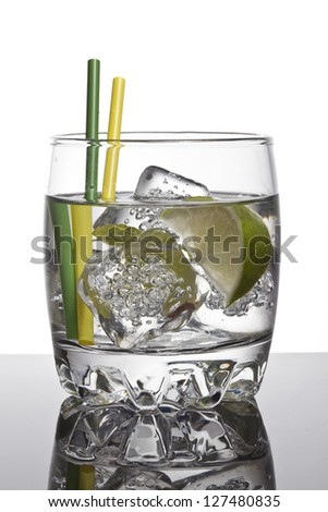 Gin tonic cocktail - stock photo