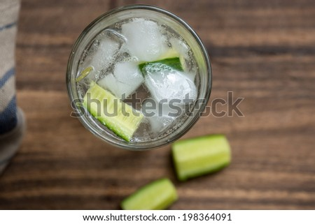 Gin Tonic long drink - stock photo
