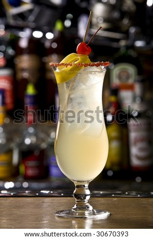 ginger a cocktail is sweet - stock photo