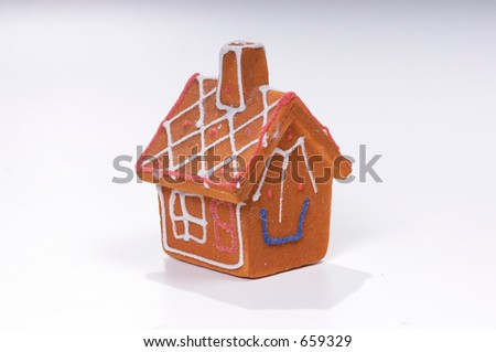 Ginger Bread House ornament - stock photo