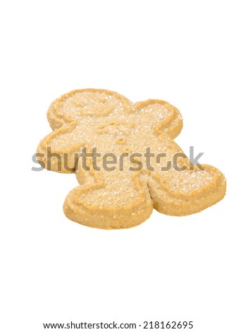 Ginger bread man isolated on white - stock photo