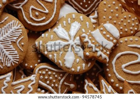 Ginger breads for Christmas - stock photo