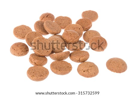Ginger nuts, typical Dutch candy for Sinterklaas event in december - stock photo