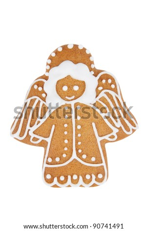 Gingerbread Angel - stock photo