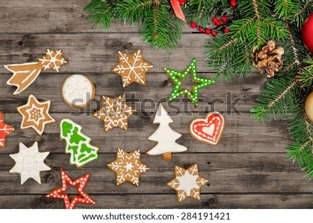 Gingerbread, background, star.