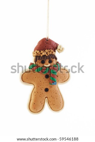 Gingerbread Christmas ornament - stock photo