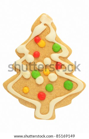 Gingerbread Christmas Tree - stock photo