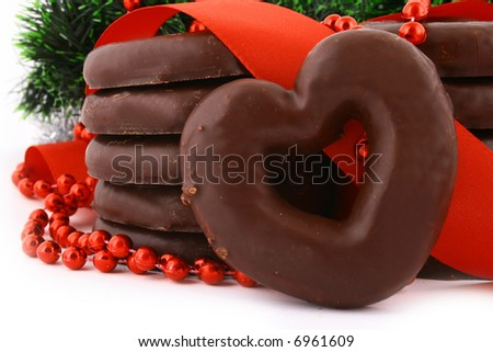 Gingerbread cookies baked for Christmas eve - stock photo