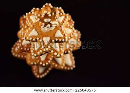 Gingerbread cookies - Christmas tree made of gingerbread  - stock photo