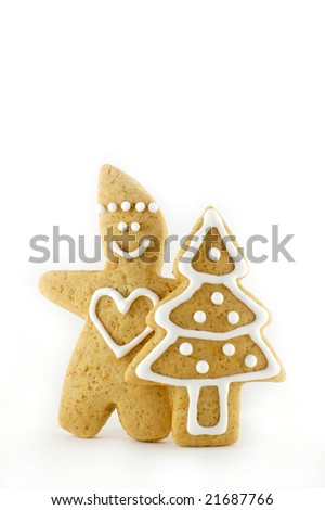 Gingerbread figure with Christmas-tree
