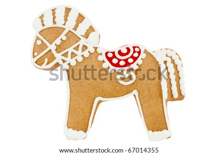 Gingerbread horse - stock photo