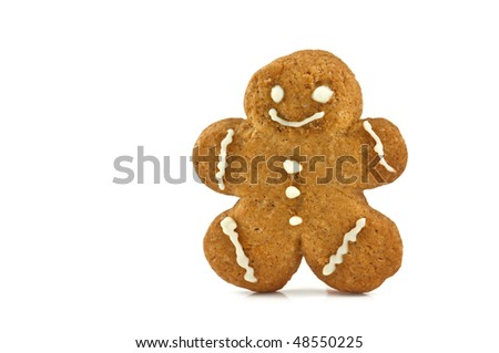 gingerbread isolated on white background