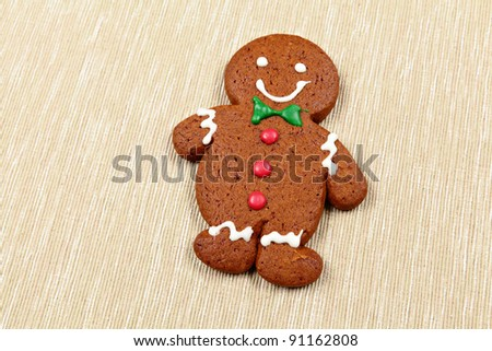Gingerbread Man - stock photo