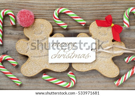 Gingerbread man merry christmas