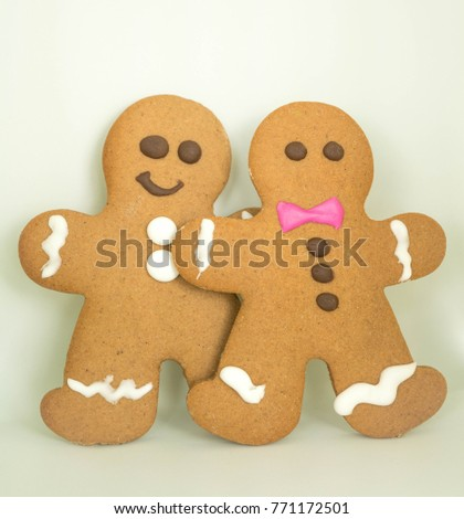 Gingerbread Man with icing and chocolate