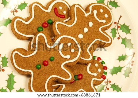 gingerbread men - stock photo