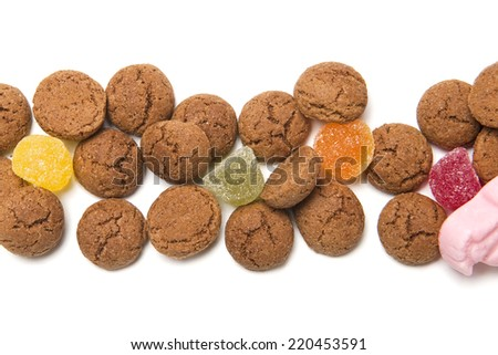 Gingerbread nuts or pepernoten, typical Dutch candy for a dutch holiday sinterklaas on the fifth of december - stock photo