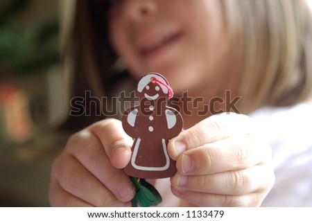 Gingerbread Ornament - stock photo