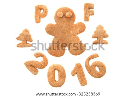 gingerbread PF 2016 isolated on the white background