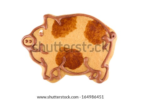 Gingerbread pig - stock photo